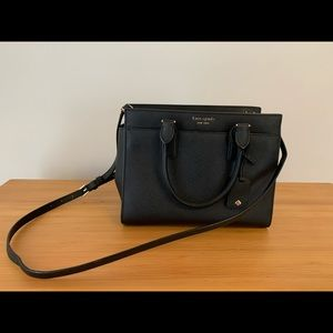 KATE SPADE PURSE: Black Cameron Medium Satchel